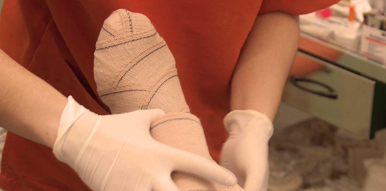 curacion heridas pies